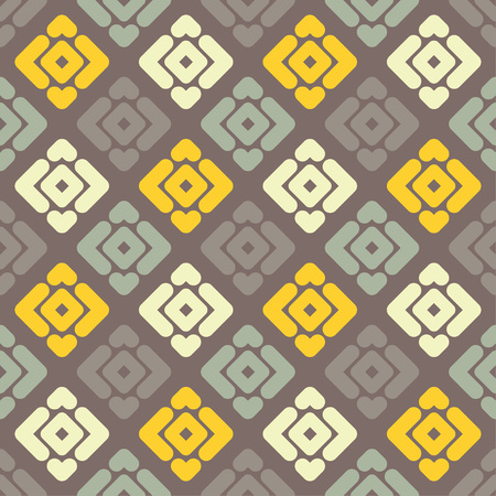 Seamless abstract geometric pattern. Texture of strips and rhombuses. Textile rapport. 向量圖像