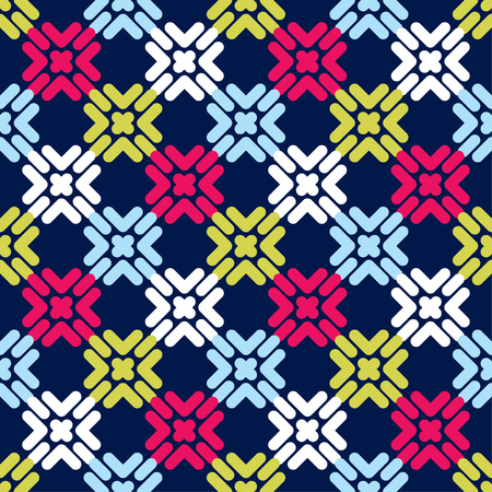 Seamless abstract geometric pattern. Mosaic texture. Textile rapport. Illustration