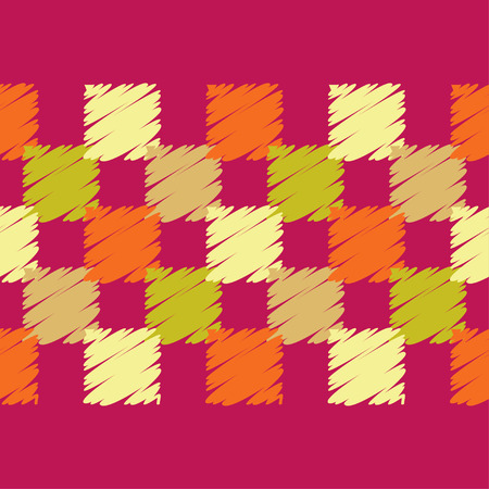 Seamless abstract geometric pattern. The texture of rhombus. Brushwork. Hand hatching. Textile rapport.