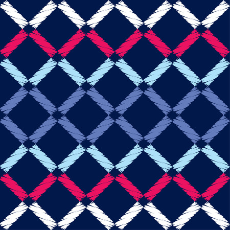 Seamless abstract geometric pattern. Brushwork. Hand hatching. Textile rapport.