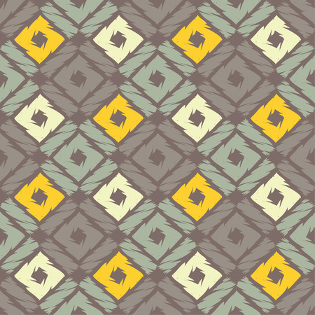 Seamless abstract geometric pattern. Mosaic texture. Brushwork. Hand hatching. Textile rapport.