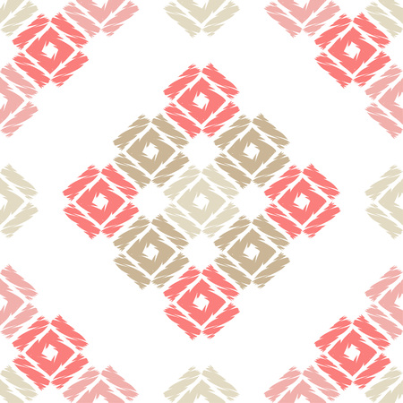 Seamless abstract geometric pattern. Mosaic texture. Brushwork. Hand hatching. Textile rapport. Illustration
