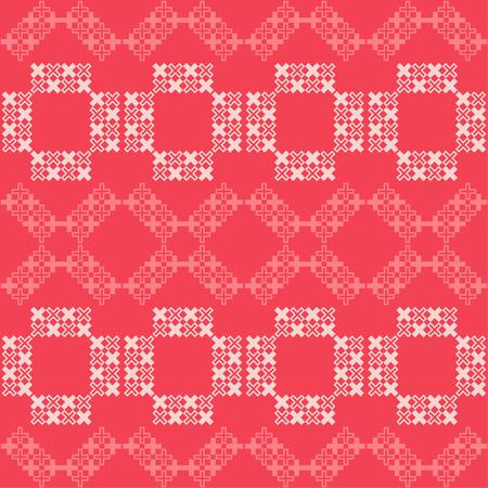 Seamless abstract geometric pattern. Mosaic texture. Cross-stitch. Textile rapport. 向量圖像