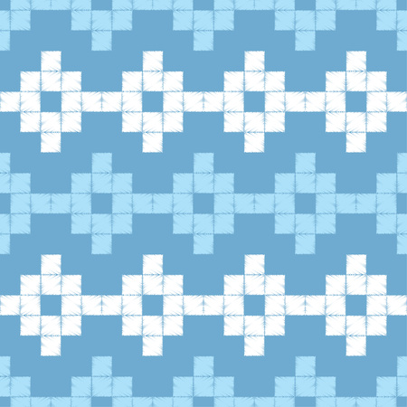 Seamless abstract geometric pattern. The pattern of pixels. Mosaic texture. Brushwork. Hand hatching. Scribble texture. Textile rapport.