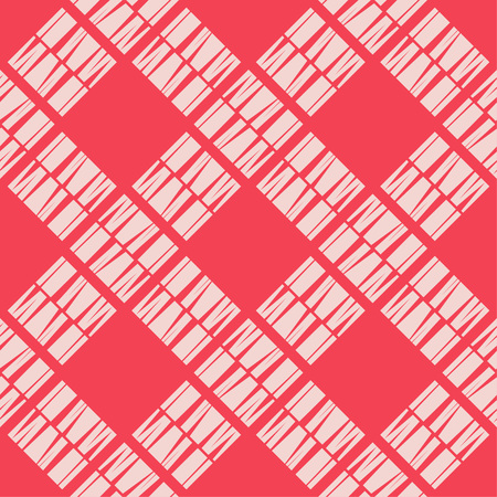 Seamless abstract geometric pattern. Mosaic texture. Brushwork. Hand hatching. Scribble texture. Textile rapport. 向量圖像