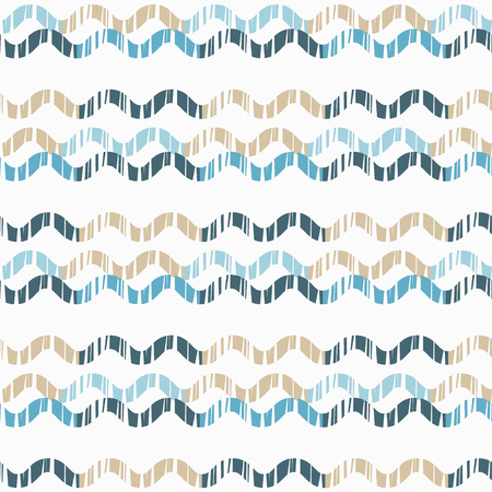 Seamless abstract geometric pattern. Texture wave. Mosaic texture. Brushwork. Hand hatching. Scribble texture. Textile rapport. 向量圖像