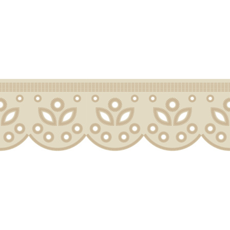 Seamless background with satin stitch embroidery. Traditional ornament. Rustic pattern. Textile rapport. Vettoriali