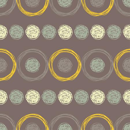 Patrón sin costuras de lunares. Fondo geométrico. Pincelada. Eclosión de la mano. Textura de garabatos. La relación textil.
