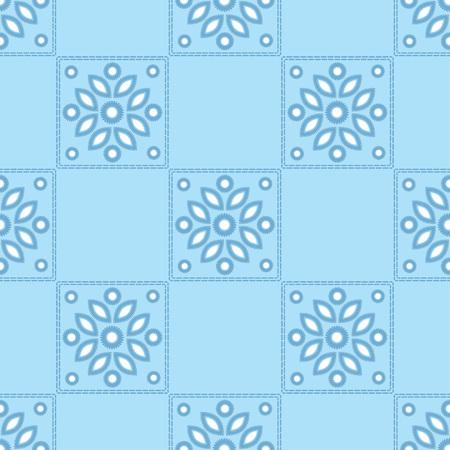 Fond transparent avec broderie au point satin. Ornement traditionnel. Motif rustique. Rapport textile. Vecteurs