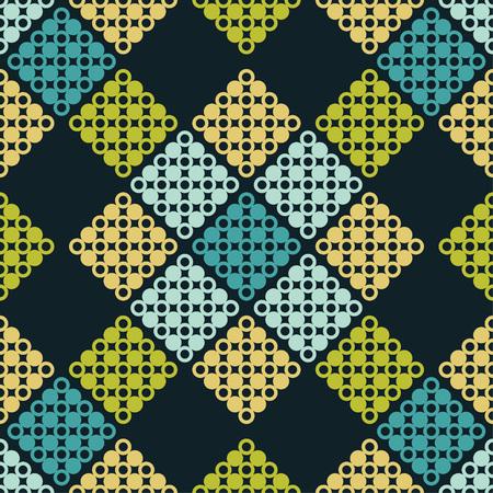 Nahtloses Muster mit Tupfen. Geometrischer Hintergrund. Punkte, Kreise und Knöpfe. Der Textil-Rapport.