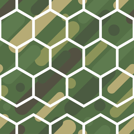 Seamless vector background with camouflage pattern. The military colors. Green-olive range of colors. Textile rapport. Vektoros illusztráció
