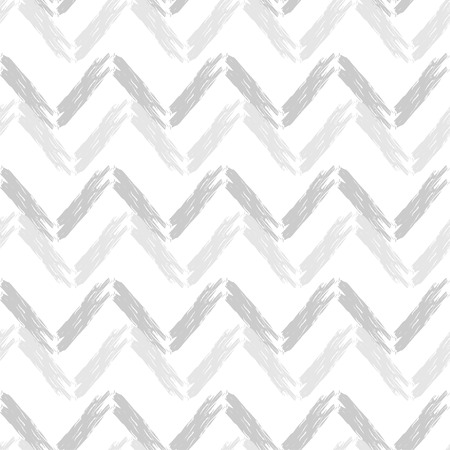 Seamless abstract geometric pattern. Zigzag texture. Mosaic texture. Brushwork. Hand hatching. Scribble texture. Textile rapport. Stock Illustratie