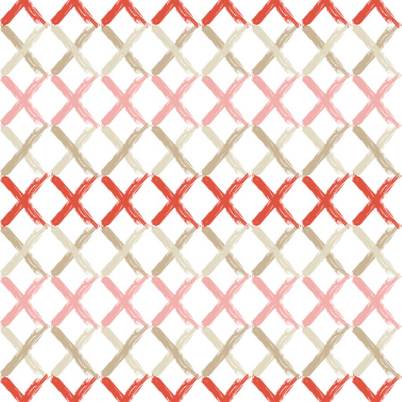 Seamless abstract geometric pattern. Zigzag texture. Mosaic texture. Brushwork. Hand hatching. Scribble texture. Textile rapport. Illustration