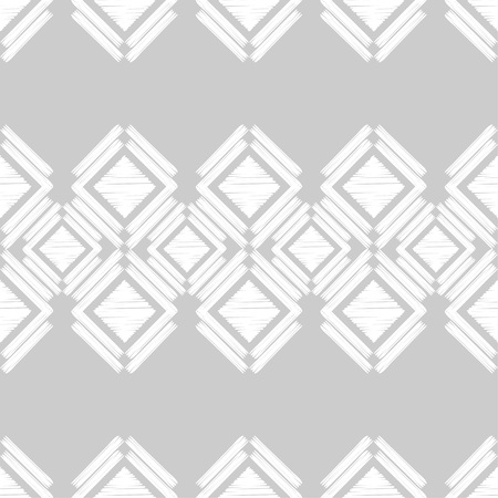 Seamless abstract geometric pattern. Mosaic texture. Brushwork. Hand hatching. Scribble texture. Textile rapport.
