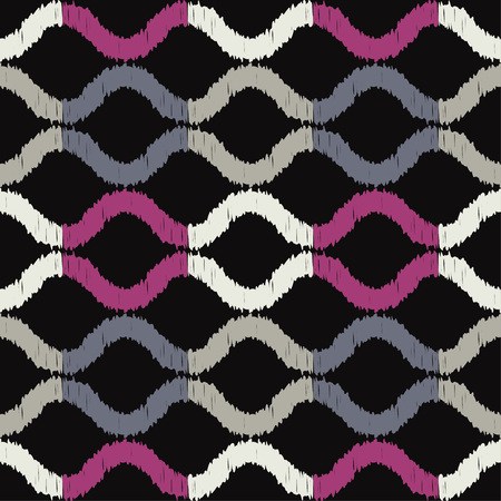 Seamless abstract geometric pattern. Wave. Mosaic texture. Textile rapport.