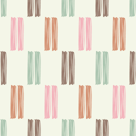 Seamless abstract geometric pattern. Mosaic texture. Brushwork. Hand hatching. Can be used for wallpaper, textile, wrapping, web page background.