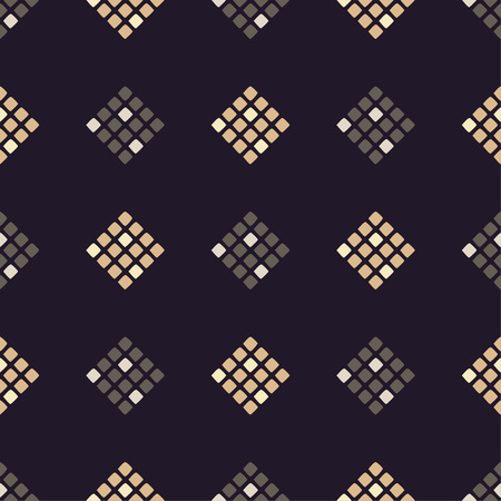 Seamless abstract geometric pattern. Pixels. Mosaic texture. Brushwork. Hand hatching. Can be used for wallpaper, textile, wrapping, web page background.