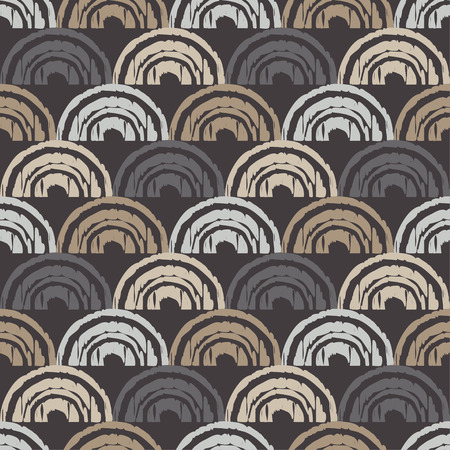 Seamless abstract geometric pattern. The texture of the crescents. Mosaic texture. Brushwork. Hand hatching. Can be used for wallpaper, textile, wrapping, web page background.