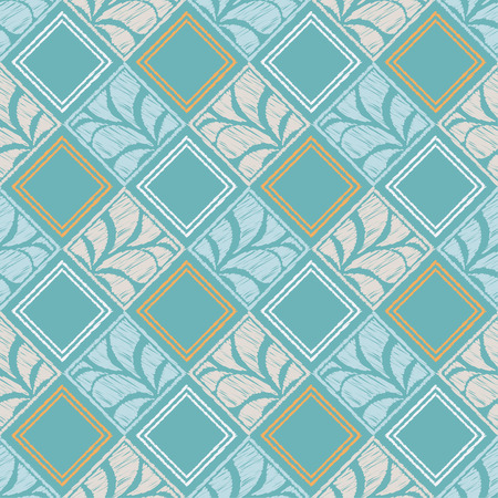 Seamless abstract geometric pattern. Paisley. Mosaic texture. Brushwork. Hand hatching. Can be used for wallpaper, textile, wrapping, web page background.