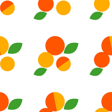 Seamless vector pattern with apricots on white background. Primitive design. Summer garden. Cute cartoon. Can be used for wallpaper, textile, wrapping, web page background.