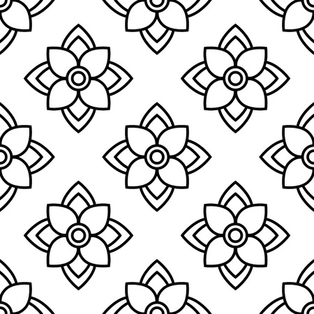 Mandala. Seamless pattern. Floral ornament. Sacred image. Vintage decorative elements. Oriental pattern, vector illustration. Can be used for wallpaper, textile, wrapping, web page background.
