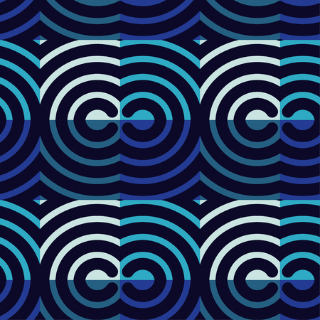 Trendy seamless pattern designs. Squiggles Vector geometric background. Bright colors and simple shapes. Mosaic texture. Can be used for wallpaper, textile, wrapping, web page background. Vettoriali