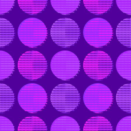 Patrón sin costuras de lunares. Puntos. Fondo geométrico. Puntos, círculos y botones. Se puede utilizar para papel tapiz, textil, envoltura, fondo de página web. Ilustración de vector