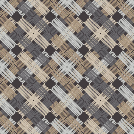 Trendy seamless pattern designs. Vector geometric background. Patchwork texture. Weaving. Mosaic texture. Can be used for wallpaper, textile, wrapping, web page background.