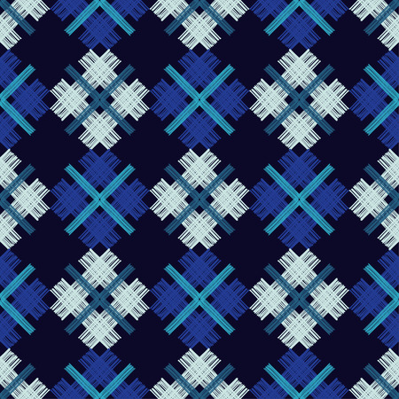 Patchwork texture. Weaving. Hand hatching. Trendy seamless pattern designs. Vector geometric background. Can be used for wallpaper, textile, wrapping, web page background.