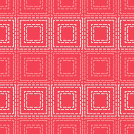 Figures of several rectangles from the dash. Trendy seamless pattern designs. Vector geometric background. Can be used for wallpaper, textile, wrapping, web page background. Stok Fotoğraf - 113816248