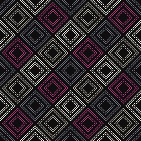 Figures of several rectangles from the dash. Trendy seamless pattern designs. Vector geometric background. Can be used for wallpaper, textile, wrapping, web page background.