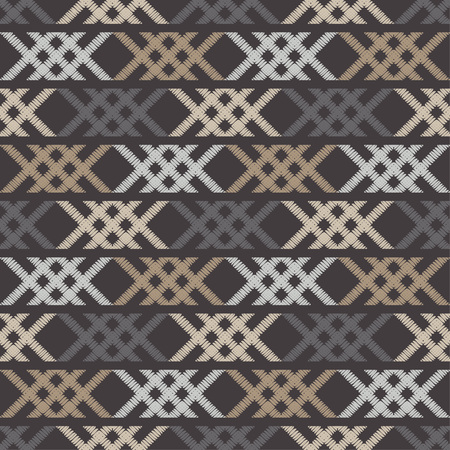 Ethnic boho seamless pattern. Shapes from strips of hand shading. Traditional ornament. Tribal pattern. Folk motif. Invitation card, web page background.