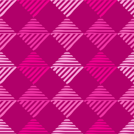 Trendy seamless pattern designs. Mosaic of striped squares. Vector geometric background. Can be used for wallpaper, textile, wrapping, web page background. Illustration