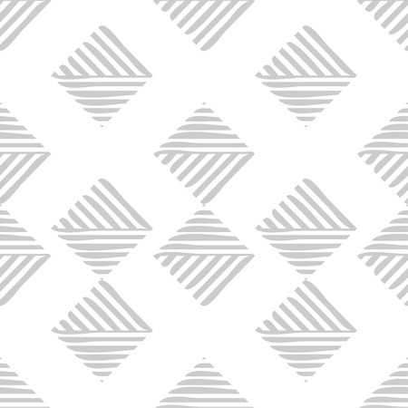 Trendy seamless pattern designs. Mosaic of striped squares. Vector geometric background. Can be used for wallpaper, textile, wrapping, web page background. Çizim