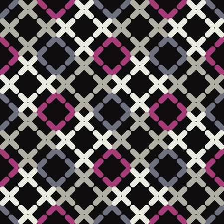 Trendy seamless pattern designs. Mosaic of crosses. Vector geometric background. Can be used for wallpaper, textile, wrapping, web page background. Çizim