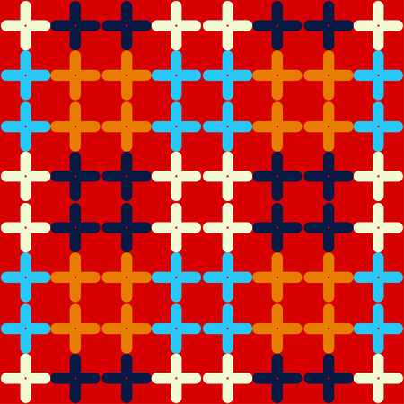 Trendy seamless pattern designs. Mosaic of crosses. Vector geometric background. Can be used for wallpaper, textile, wrapping, web page background. Stok Fotoğraf - 114878343