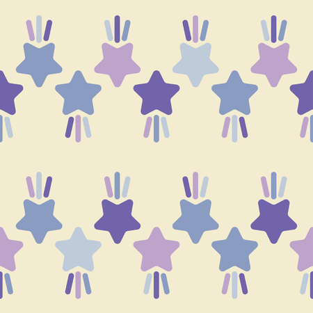 Seamless pattern with decorative stars. Star with rays. Simple design. Can be used for wallpaper, textile, wrapping, web page background.
