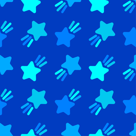 Seamless pattern with decorative stars. Star with rays. Simple design. Can be used for wallpaper, textile, wrapping, web page background. Vetores