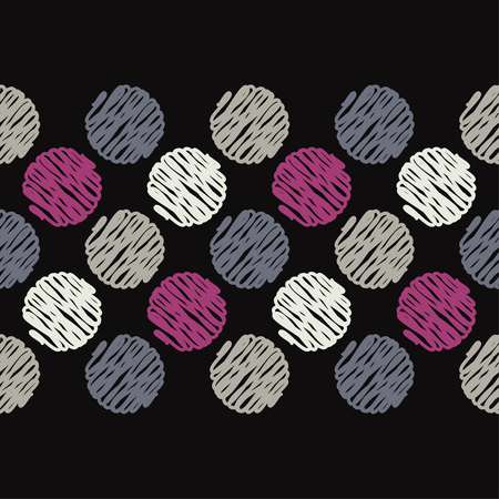 Polka dot seamless pattern. Mosaic of painted strokes circles. Geometric background. Can be used for wallpaper, textile, wallpaper, web page background.