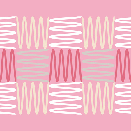 Trendy seamless pattern designs. Mosaic of zigzags and squiggles. Vector geometric background. Can be used for wallpaper, textile, wrapping, web page background.