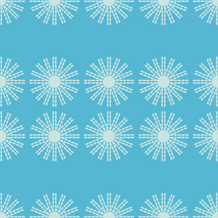Seamless pattern with decorative stars. Mosaic of stars from strips and dots. Can be used for wallpaper, textile, wrapping, web page background. Vetores