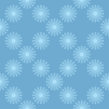 Seamless pattern with decorative stars. Mosaic of stars from strips and dots. Can be used for wallpaper, textile, wrapping, web page background.