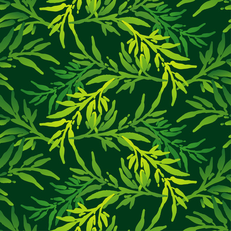 Seamless background with decorative leaves. China Brushwork. Hand hatching. Flower mosaic. Can be used for wallpaper, textile, wrapping, web page background.