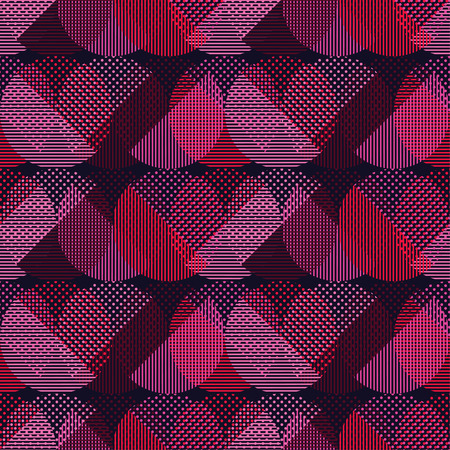 Polka dot seamless pattern. Circles of dots and stripes. Geometric background. Can be used for wallpaper, textile, wrapping, web page background. Ilustracje wektorowe