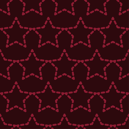 Seamless pattern with decorative stars. Stars in the sky. Can be used for wallpaper, textile, wrapping, web page background. Vetores