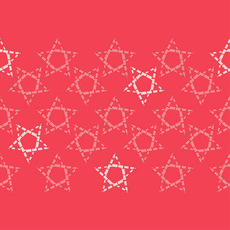 Seamless pattern with decorative stars. Stars from different squares. Can be used for wallpaper, textile, wrapping, web page background.