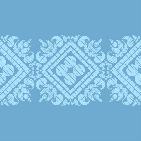 Paisley ornament. Ethnic boho seamless pattern. Ikat. Traditional ornament. Folk motif. Can be used for wallpaper, textile, wrapping, web page background.