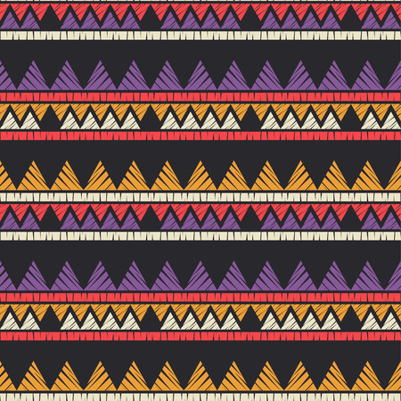 Ethnic boho seamless pattern. Embroidery on fabric. Patchwork texture. Weaving. Traditional ornament. Tribal pattern. Folk motif. Can be used for wallpaper, textile, wrapping, web page background. Reklamní fotografie - 120920695