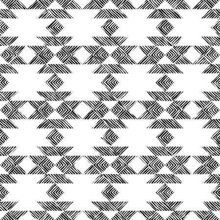 Ethnic boho seamless pattern. Striped figures. Patchwork texture. Weaving. Traditional ornament. Tribal pattern. Folk motif. Can be used for wallpaper, textile, wrapping, web page background.