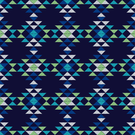 Ethnic boho seamless pattern. Embroidery on fabric. Patchwork texture. Weaving. Traditional ornament. Tribal pattern. Folk motif. Can be used for wallpaper, textile, invitation card, wrapping, web.